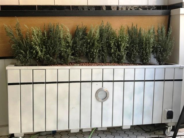 Cerramientos de terraza con jardineras